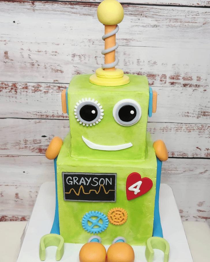 Charming Robots Cake