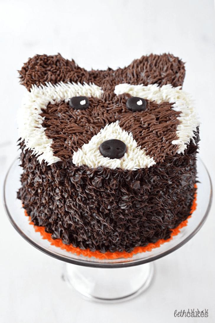 Angelic Rocket Raccoon Cake