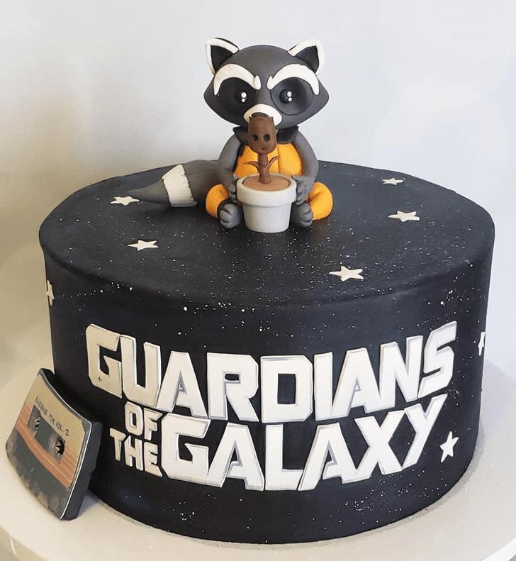 Appealing Rocket Raccoon Cake