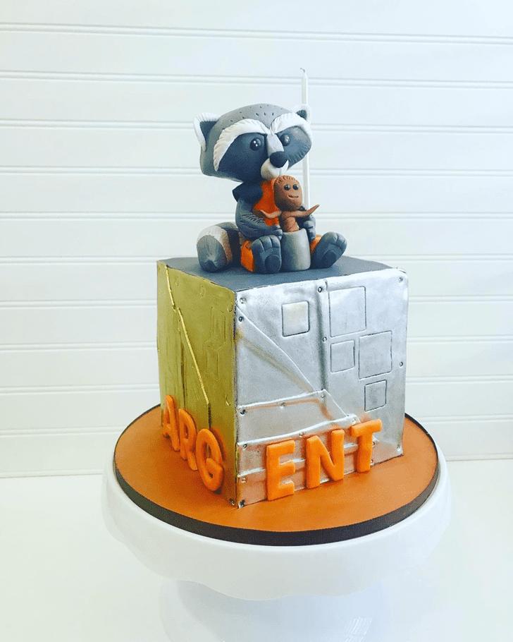 Beauteous Rocket Raccoon Cake