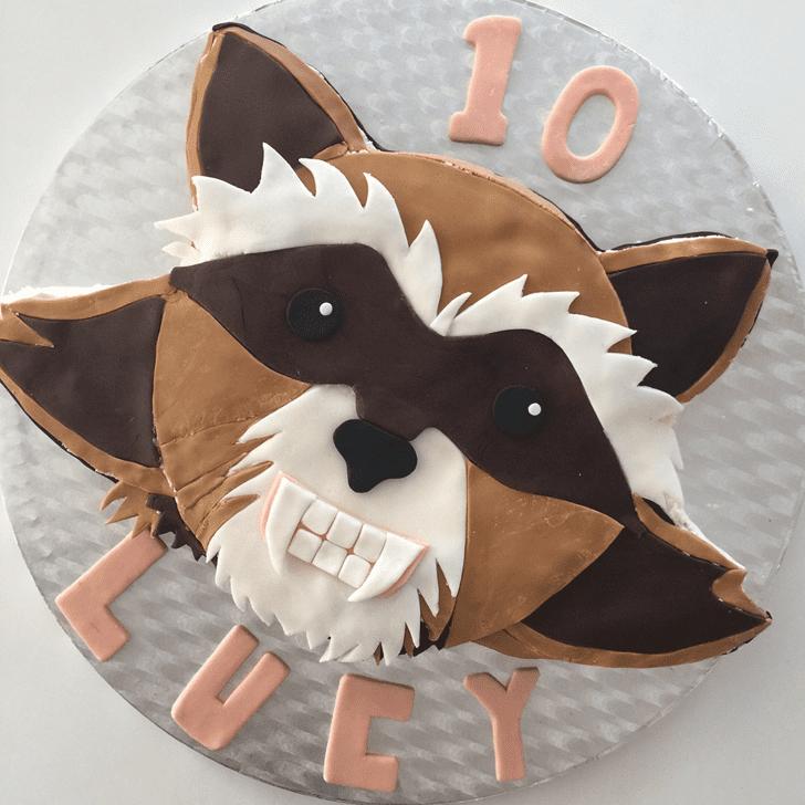 Charming Rocket Raccoon Cake