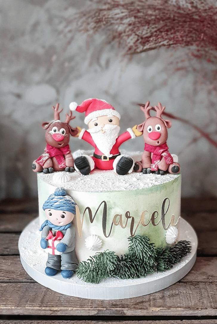 Adorable Santa Cake