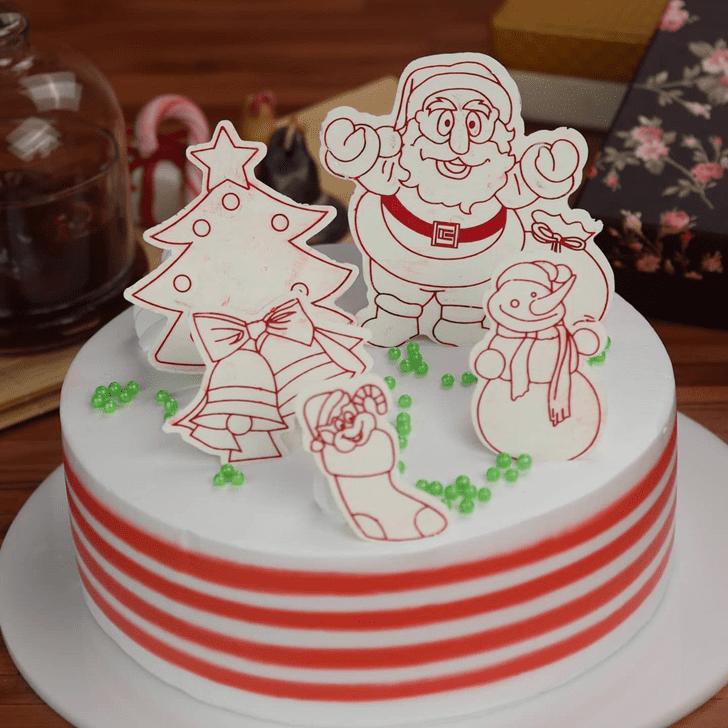 Bewitching Santa Cake