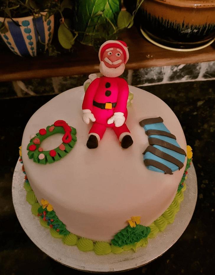 Charming Santa Cake