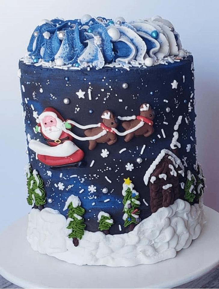 Delicate Santa Cake