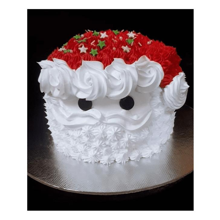 Elegant Santa Cake