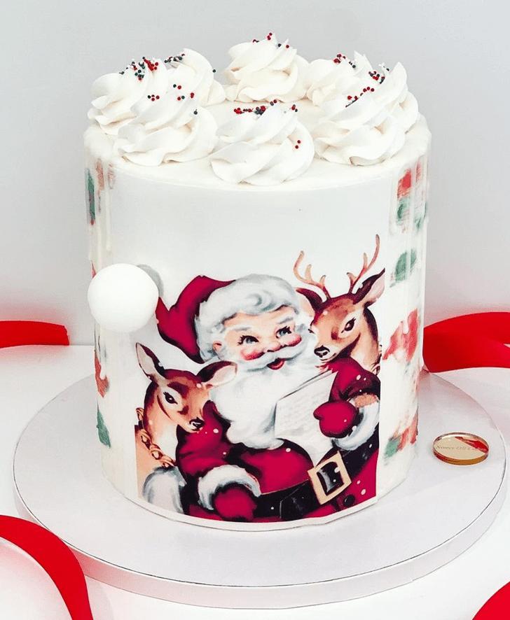 Inviting Santa Cake