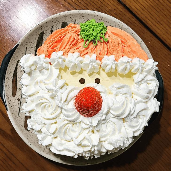 Lovely Santa Cake Design