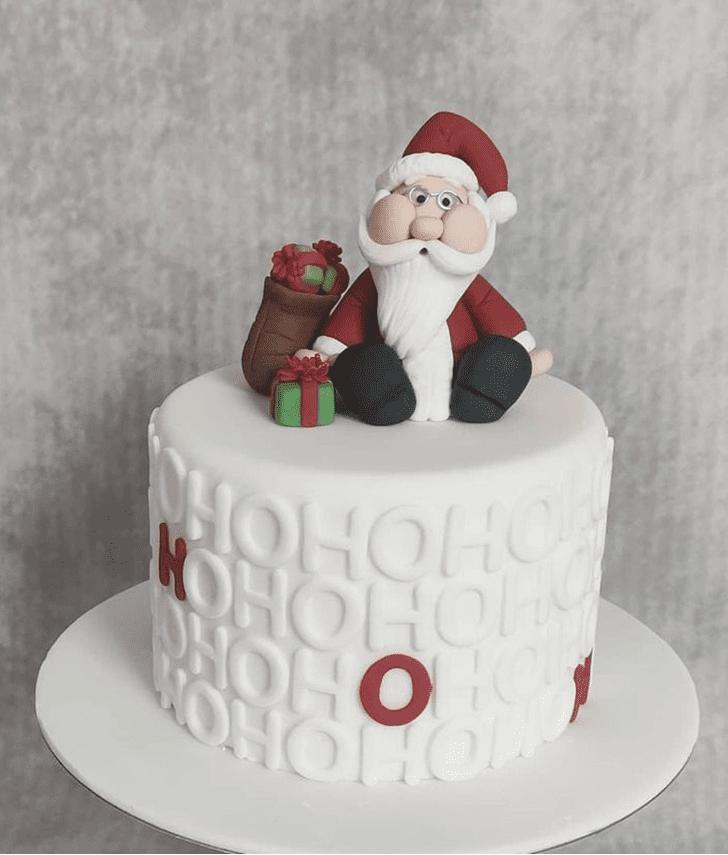 Radiant Santa Cake