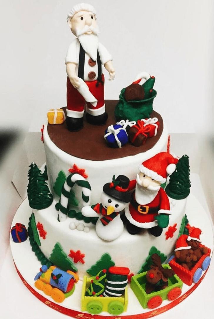 Ravishing Santa Cake