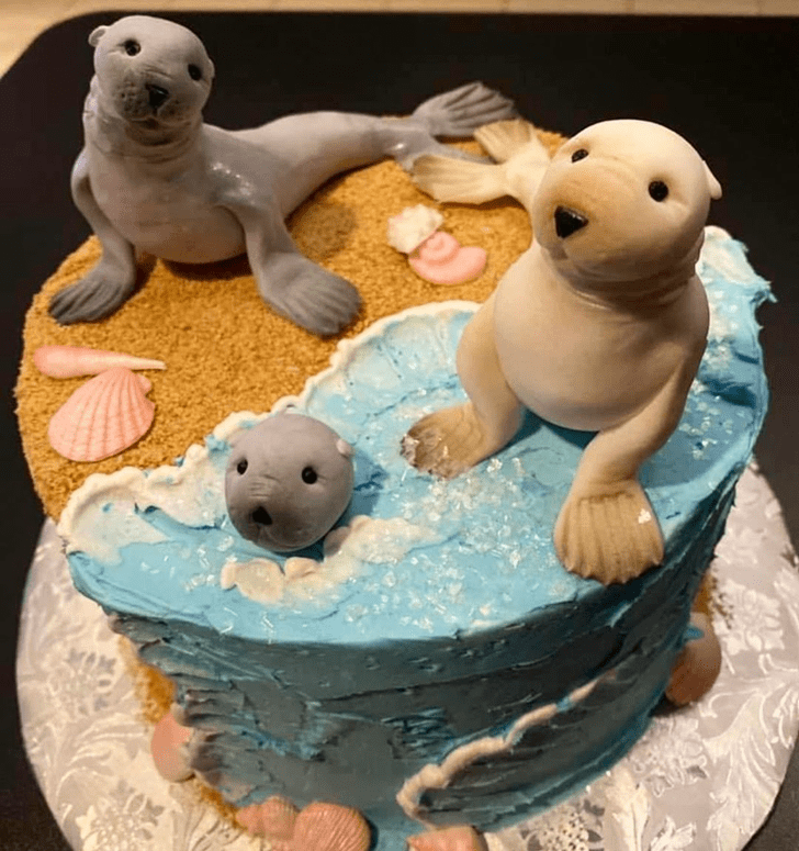 Admirable Sea Lion Cake Design