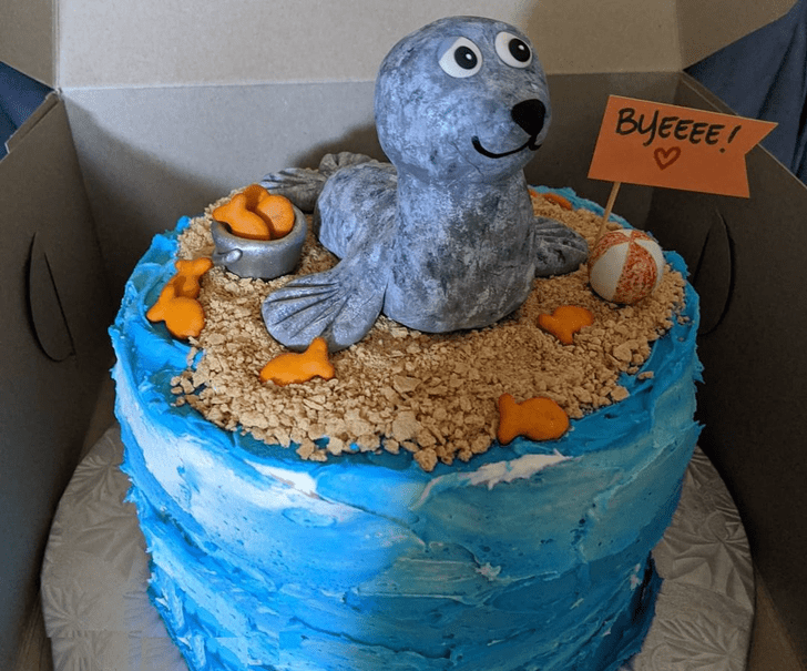 Alluring Sea Lion Cake