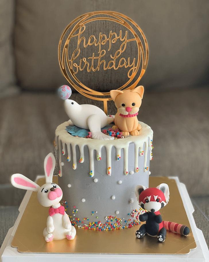 Charming Sea Lion Cake