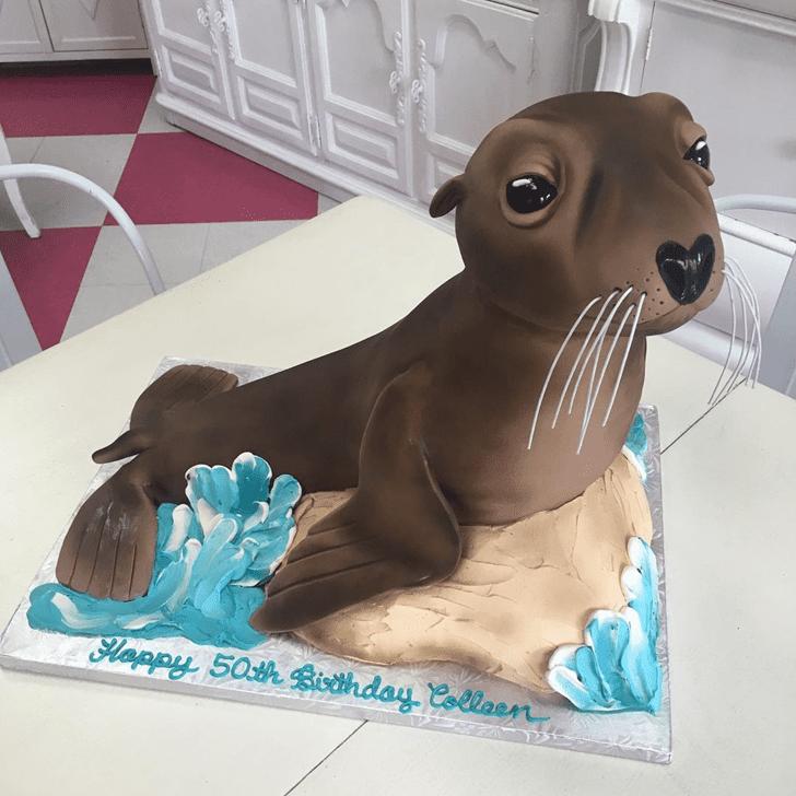 Classy Sea Lion Cake