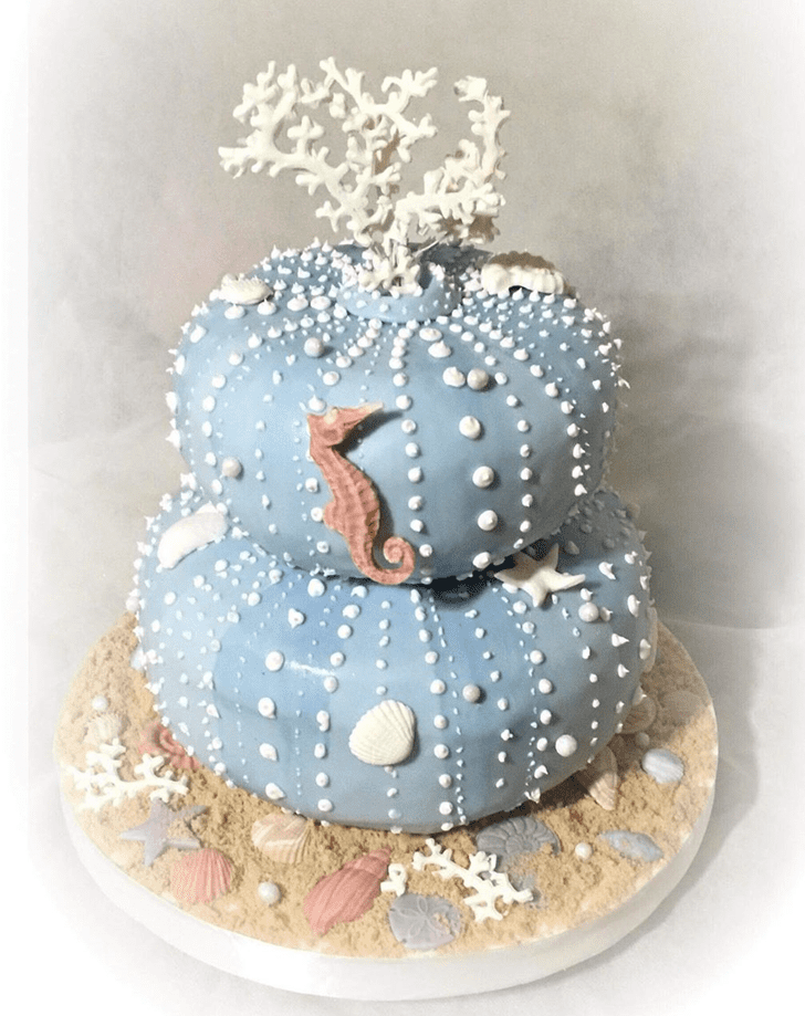 Angelic Sea Urchin Cake