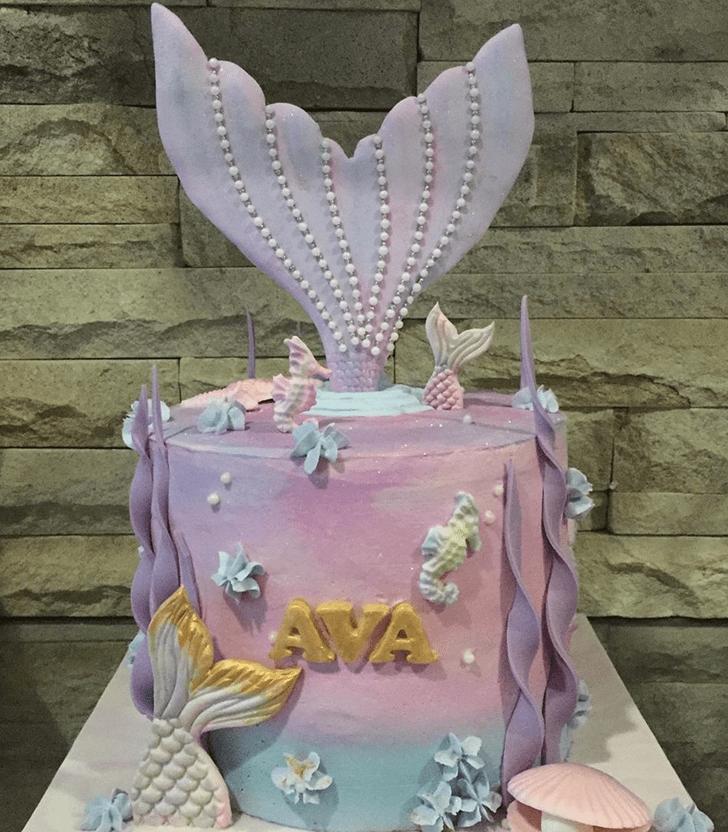 Appealing Seahorse Cake