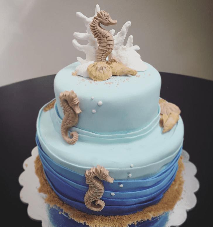 Elegant Seahorse Cake