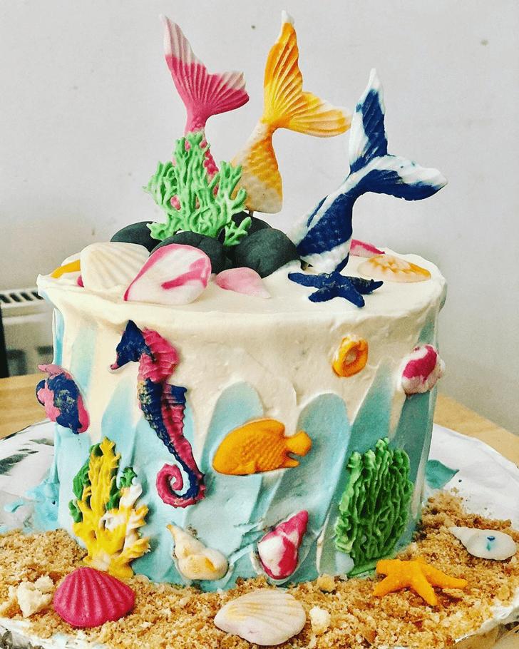 Exquisite Seahorse Cake