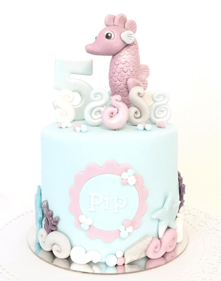 Handsome Seahorse Cake
