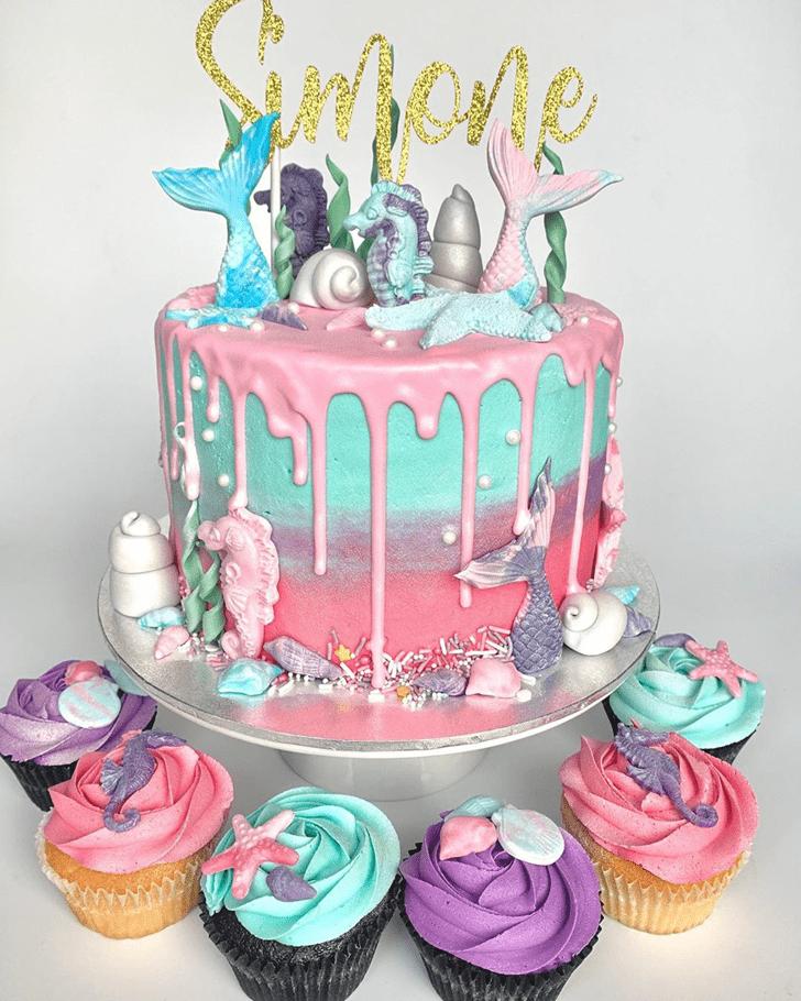 Marvelous Seahorse Cake