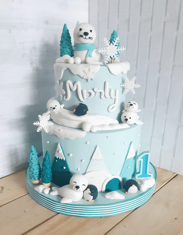 Angelic Seals Cake