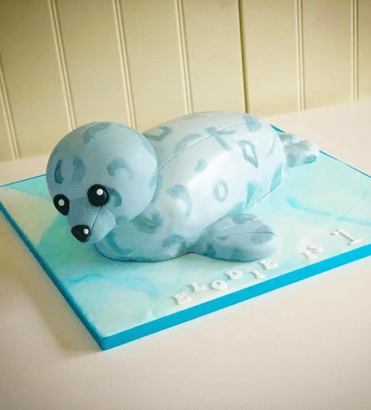 Dazzling Seals Cake