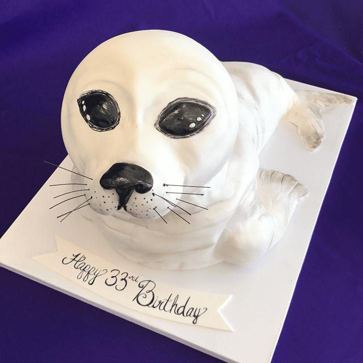 Elegant Seals Cake