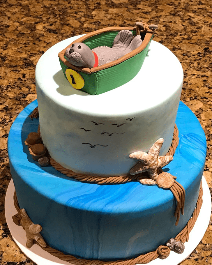 Inviting Seals Cake
