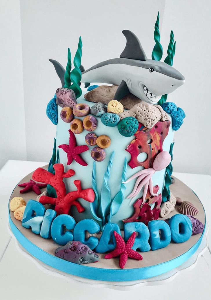 Alluring Shark Cake