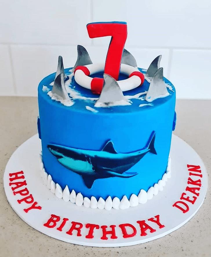 Angelic Shark Cake