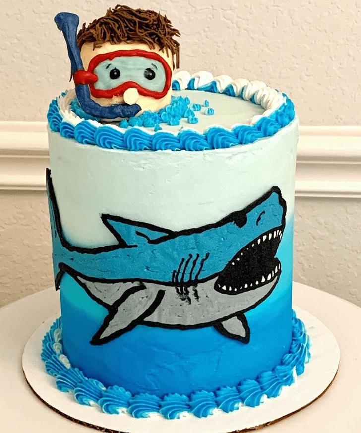 Classy Shark Cake