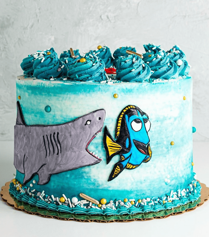 Comely Shark Cake