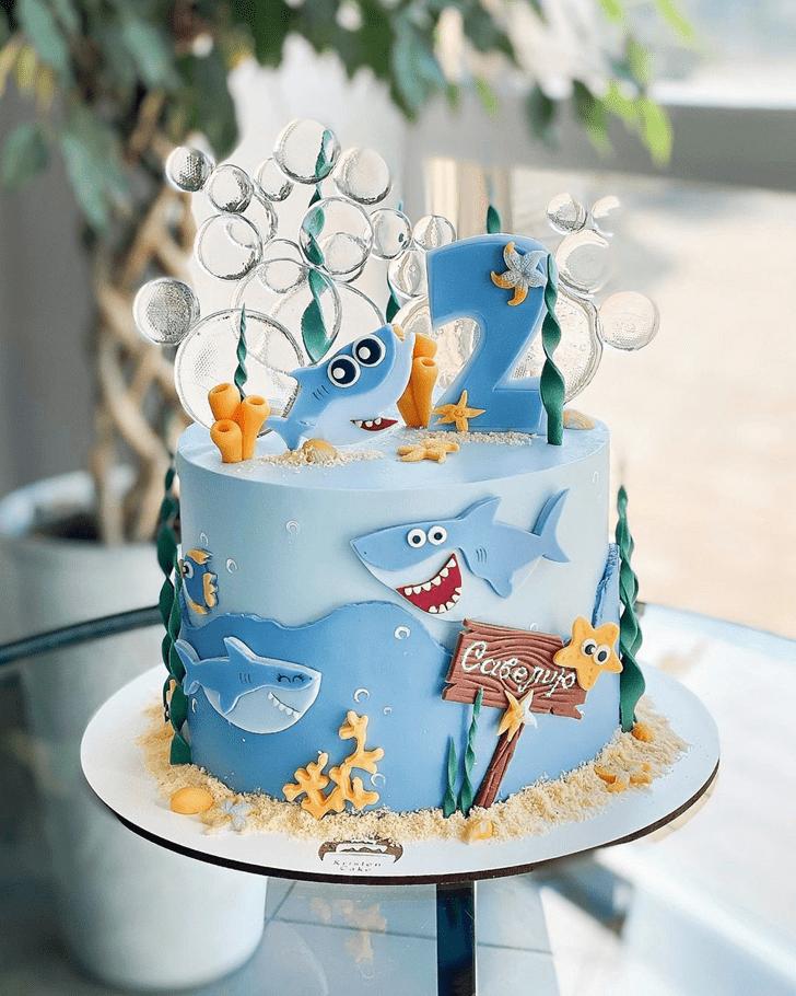 Enticing Shark Cake