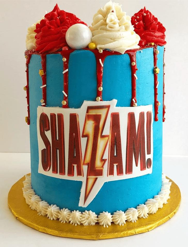 Admirable Shazam Cake Design