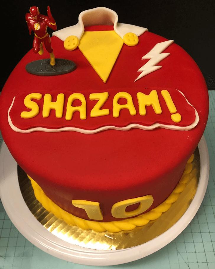 Alluring Shazam Cake