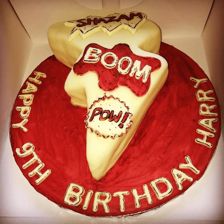 Classy Shazam Cake