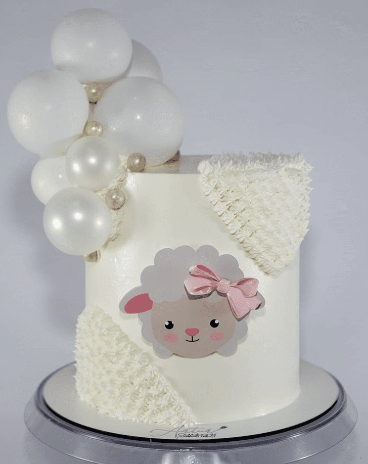 Adorable Sheep Cake