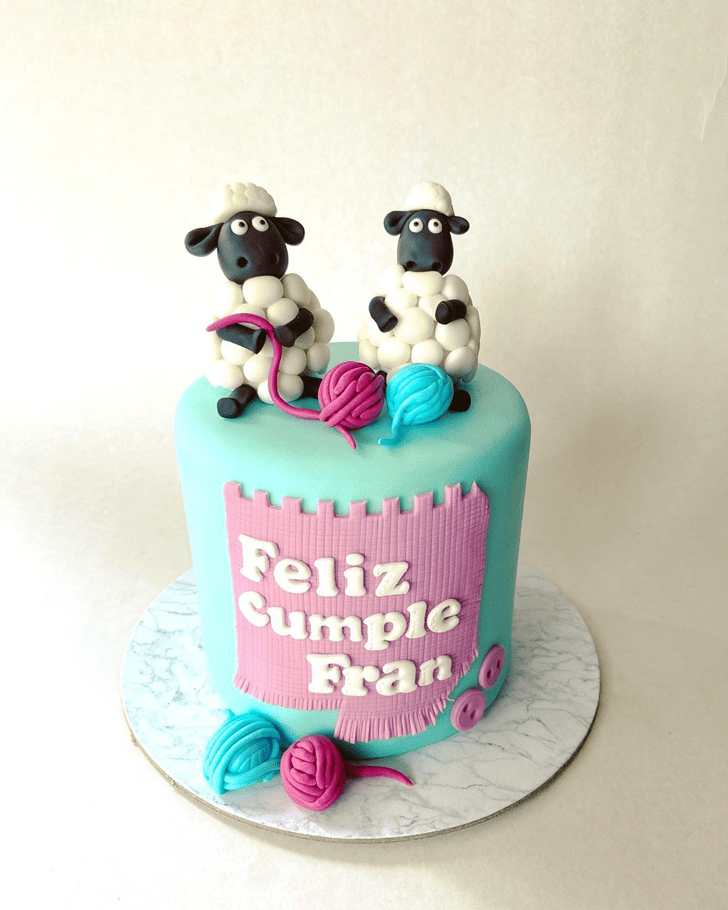Appealing Sheep Cake