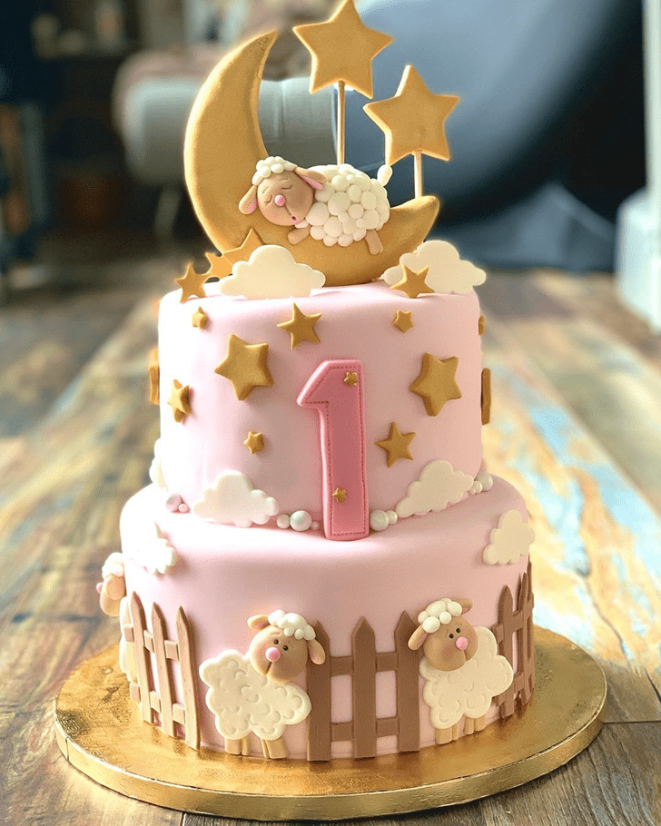 Charming Sheep Cake