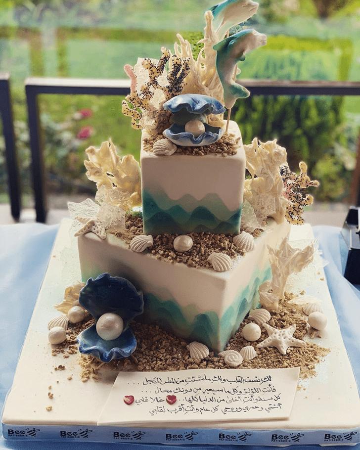 Angelic Shells Cake