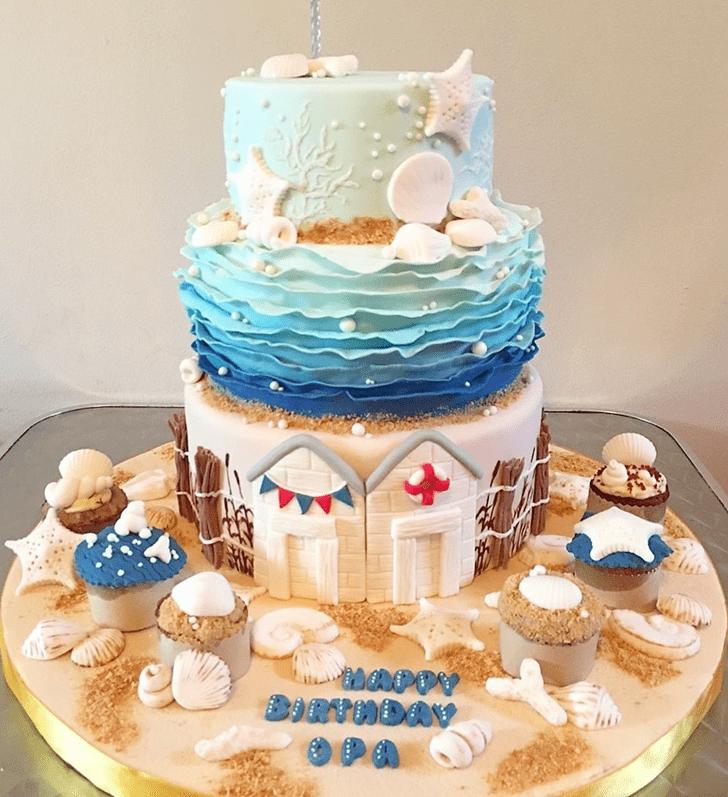 Beauteous Shells Cake