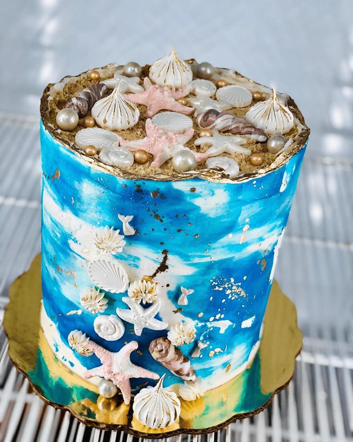 Classy Shells Cake