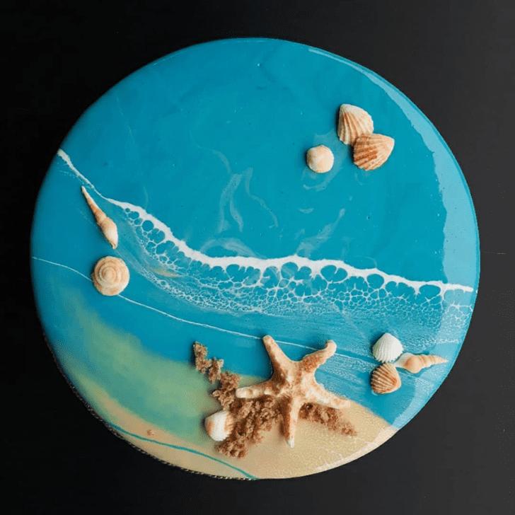 Delicate Shells Cake