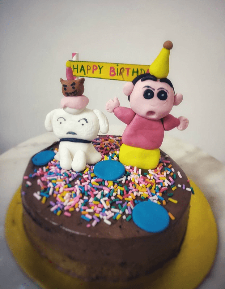 Adorable Shinchan Cake