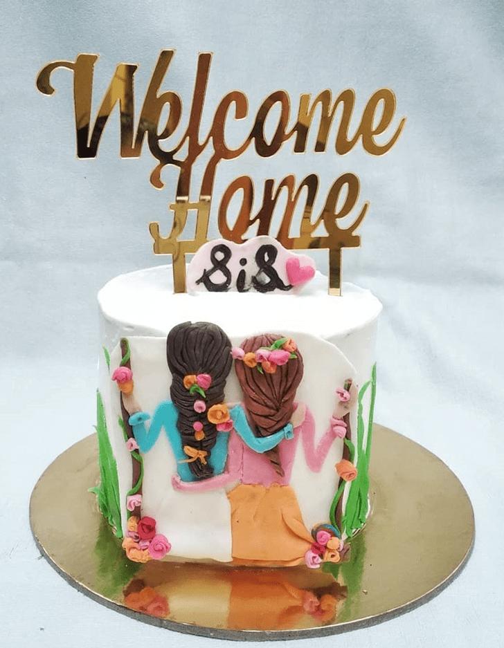 Alluring Sister Cake