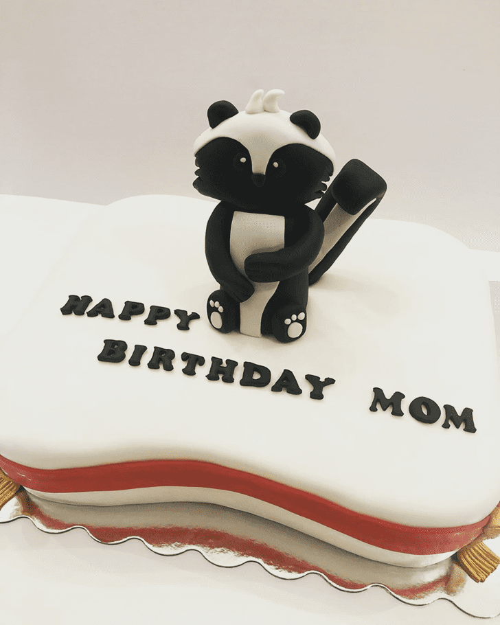 Adorable Skunk Cake