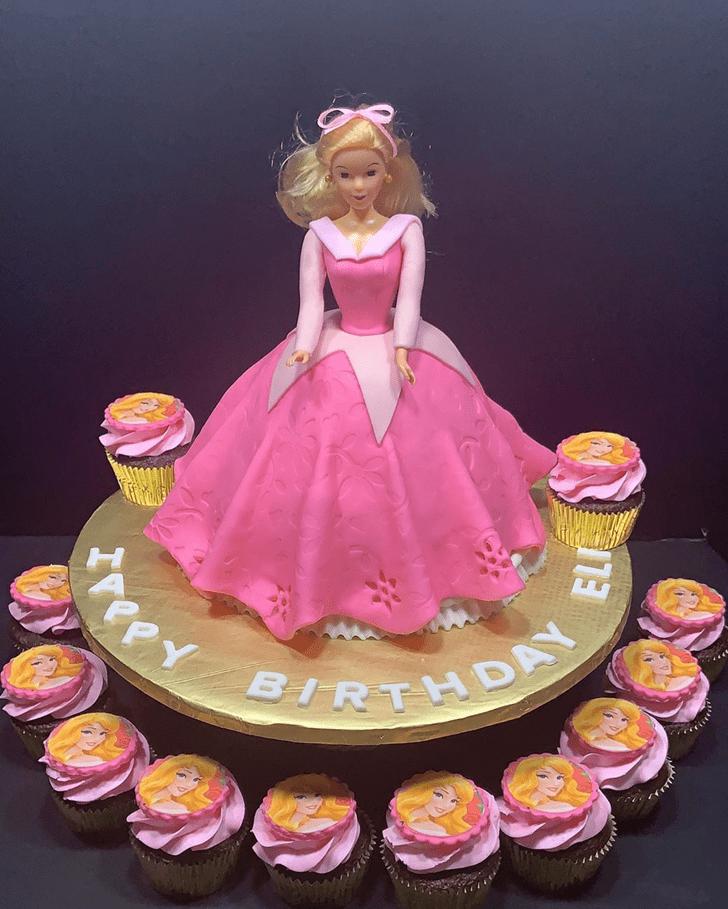 Classy Sleeping Beauty Cake