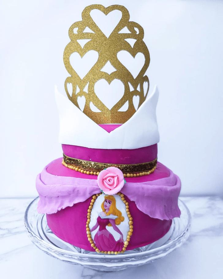 Inviting Sleeping Beauty Cake