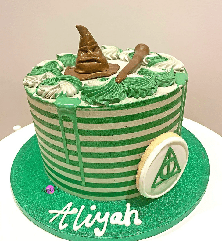 Adorable Slytherin Cake