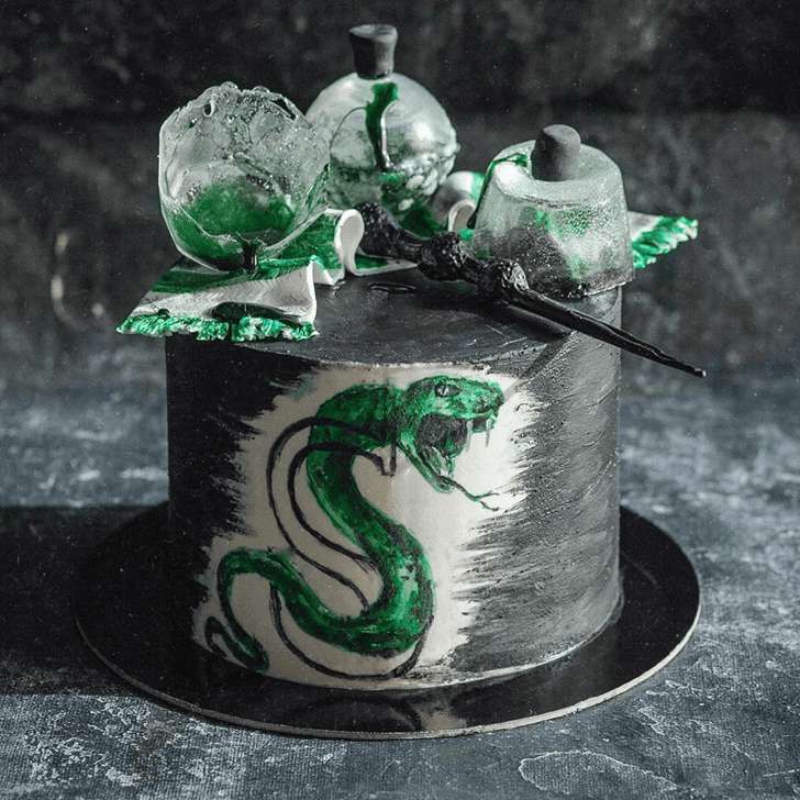 Angelic Slytherin Cake